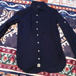 Tunic button up girls size 7